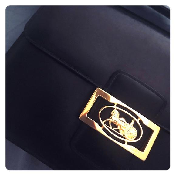4ba8d837e020 Celine Handbags - Vintage Celine horse carriage logo shoulder bag